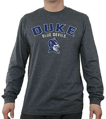 Duke Blue Devils Charcoal Heather Mens Core Long Sleeve T Shirt Duke Blue Devils T-shirt