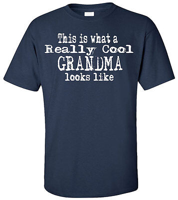 This Is What A Really Cool Grandma Looks Like Adult T-Shirt - Family Birthday (Looks Like Adult T-shirt)
