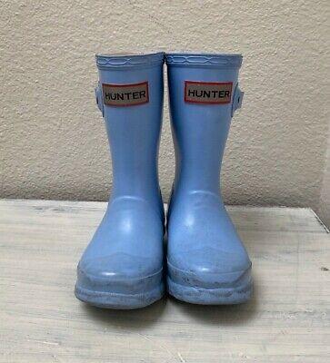 Toddler Black Hunter Boots (Toddler HUNTER Blue Rain Boots Classic Style Black 9 10)