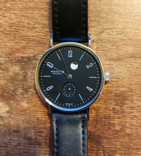 Nomos Glashutte Tangente Power Reserve  Gangreserve Watch with deployant clasp - watch picture 1