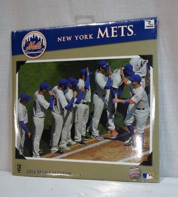 New Turner Licensing Sport 2014 New York Mets Team Wall Calendar