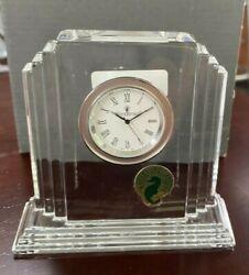 NEW NIB FLAWLESS Exquisite WATERFORD Crystal Desk Mantel METROPOLITAN CLOCK