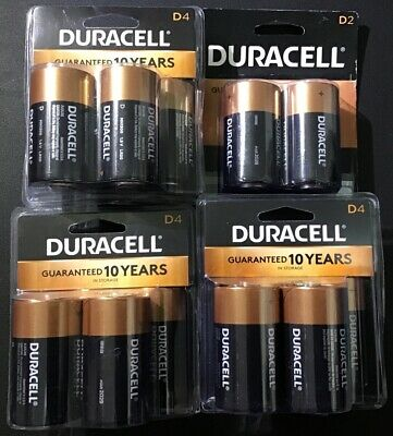 Duracell Alkaline D size Batteries 14 Total Batteries use by 2027 or