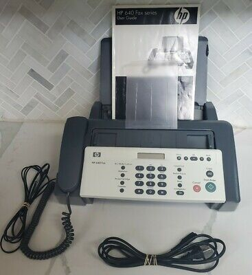 Hp 640 Fax Machine Inkjet Grey And White With Phone Excellent Condition