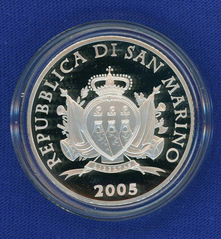 2005 R San Marino Italy 10 Euro Silver Proof - Milizia Uniformata - OGP