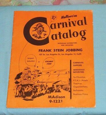 vintage Halloween 1962 HALLOWE'EN CARNIVAL CATALOG