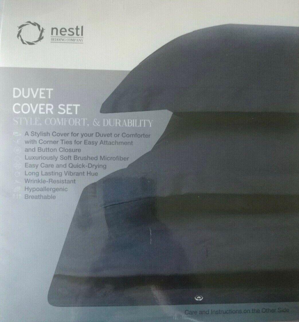Duvet Cover Set White KING Sized 100% microfiber Nestl beddi