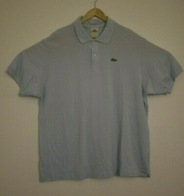 Lacoste Men's Short Sleeve Shirt Size 8 (3XL) Light Blue Polo Big & Tall