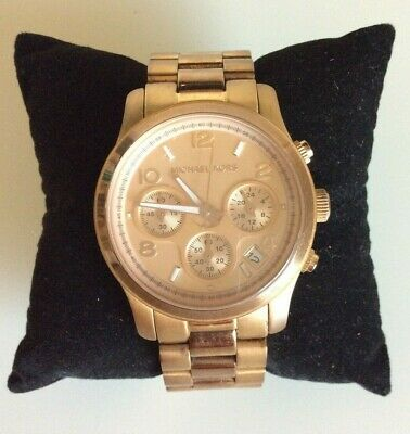Michael Kors Women's Watch The Runway Gold Tone Chronograph MK-5128