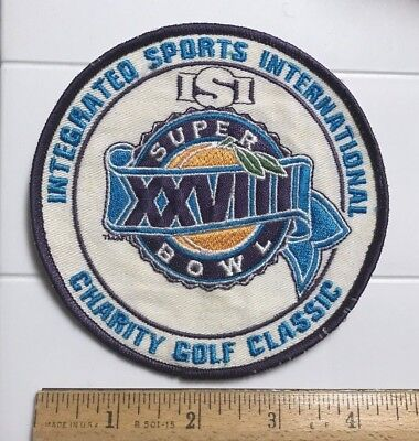 Integrated Bowl - Super Bowl XXVIII 28 Integrated Sports International Charity Golf Classic Patch