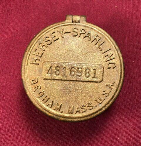 Vintage Antique Bronze Hersey Water Meter Cover / Cap Key Hide Key Safe 981