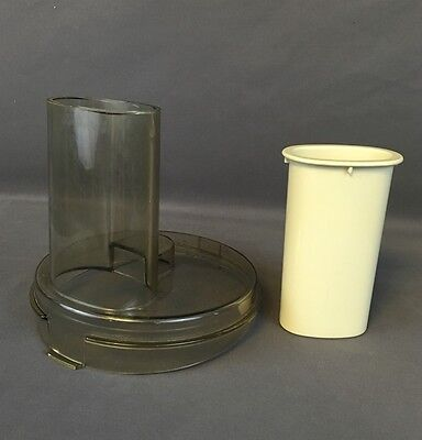 Vintage General Electric GE Food Processor Parts: Work Bowl Lid and Pusher D2FP1