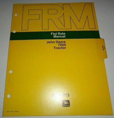 John Deere 7020 Tractor Flat Rate Repair Time Manual Jd 373 Original