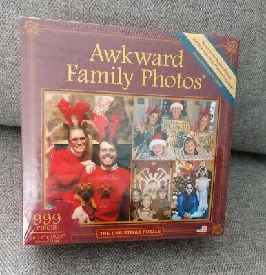 Awkward Family Photos Christmas Puzzle Jigsaw 999 Pieces Brand New Made In USA ()