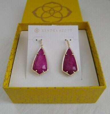 Kendra Scott Carla Earrings - Purple Jade/Gold Jade Purple Earrings