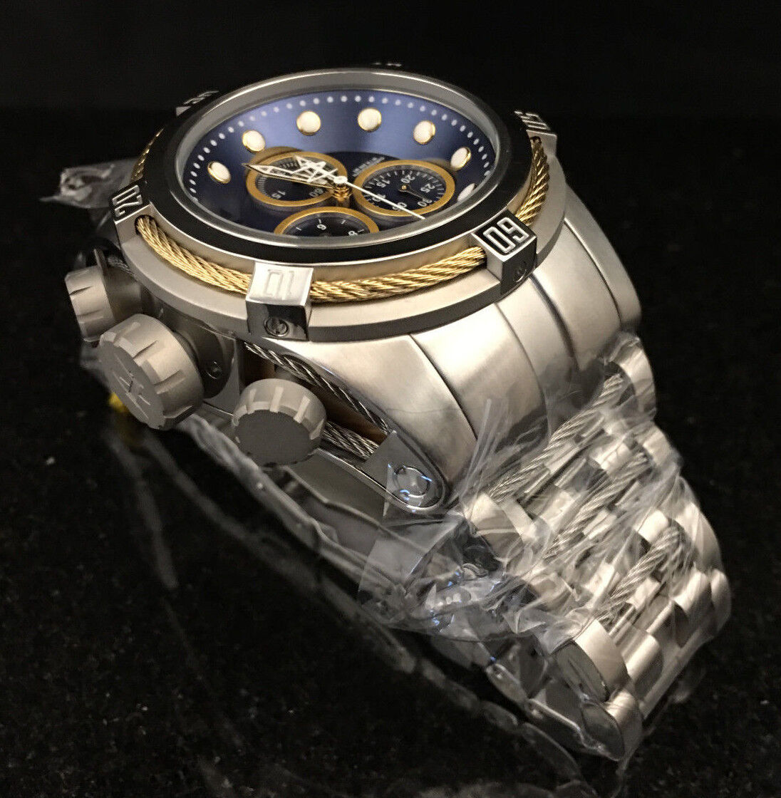 @New Invicta Reserve 52mm Bolt Zeus Quartz Chronograph 22157 Stainless Bracelet