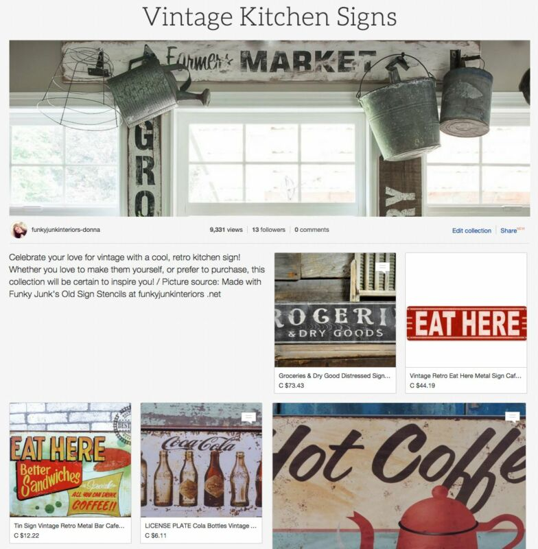 Vintage Kitchen Signs, a collection to help you achieve the farmhouse look right in your own home!