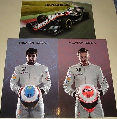 F1 2015 Formula One Grand Prix - McLaren Honda MP4-30 Alonso - Button Card Set