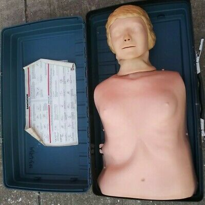 Laerdal Resusci Anne Adult Manikin Torso Emt Cpr Trainer With Case