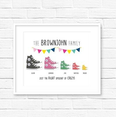 Personalised Family Converse Print! Personalised Family Print! UK Seller!  - Converse Personalised