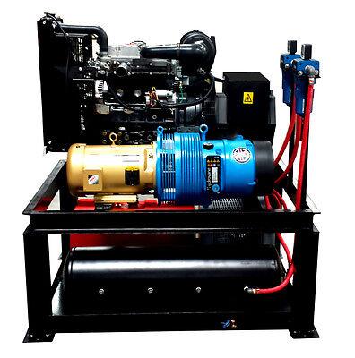 22 Kw 25 Cfm Spray Foam Rig Diesel Generator Compressor Air Dryer Combo Uni