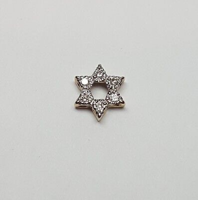 Star of David diamond pendant.  14kt yellow gold Star of David slide pendant.