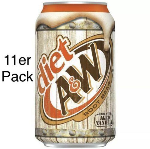 AW Root Beer Diet 11x 355ml Dosen Light Zero