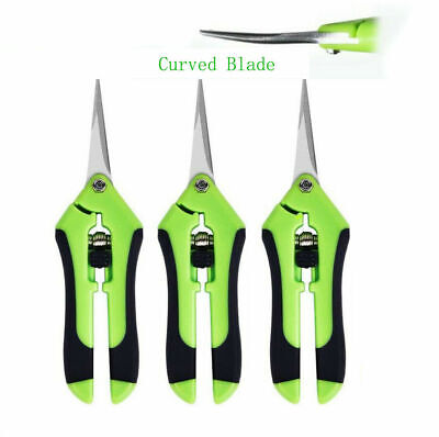 3-Pack Curved Blade Garden Scissors Trimmers Harvest Pruning Plants Trimming
