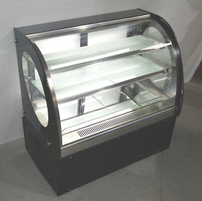 Commercial Curved Cake Showcase Glass Refrigerated Display Case 220vfloor Model