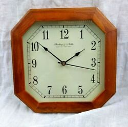 Sterling & Noble Wall Clock 10x10 Octagon Battery Powered