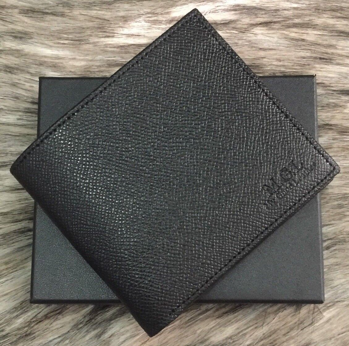 Safiano Leather Men Wallet M.G.L Bifold  My Good Leather