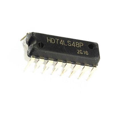 2 Pcs Hd74ls48p 74ls48 Dip16 Hitachi Bcd-to-seven-segment Decoder New