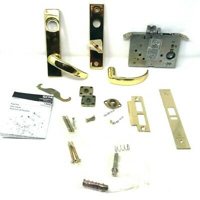 Schlage L9070l 17l 605 Mortise Lock Less Cylinder Bright Brass New In Box