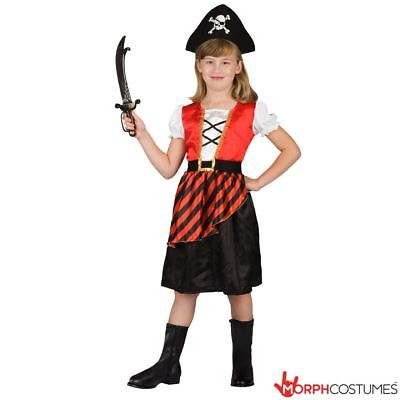 Pirate Hat For Girls (Girls Caribbean Pirate Fancy Dress Costume incl Hat for Halloween or Book)