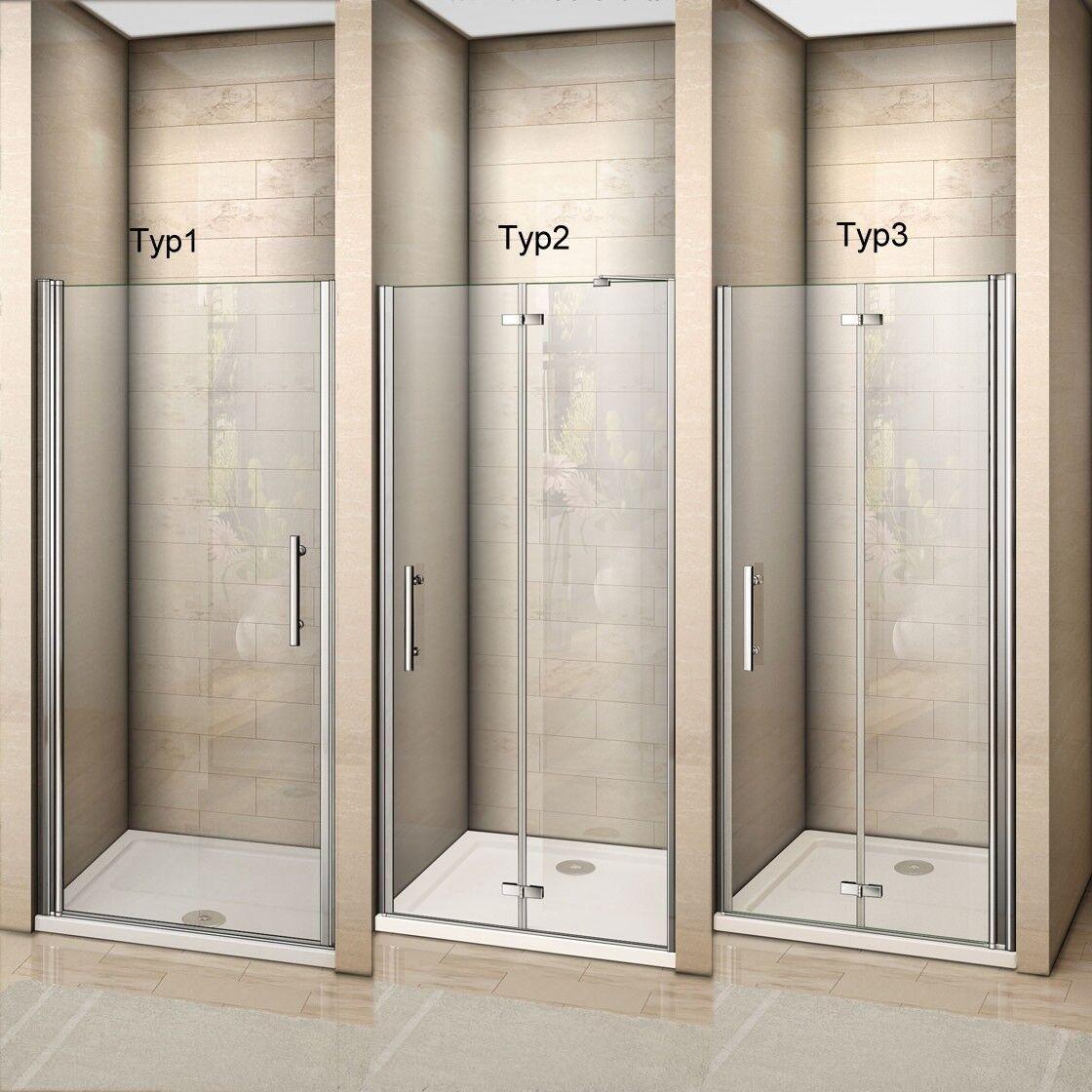 Duschkabine Schwingtür Duschtür Duschabtrennung Nischentür Falttür Duschwand