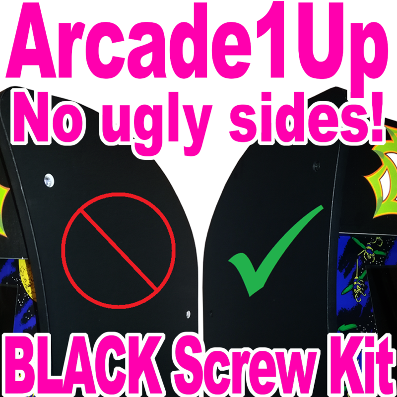 Arcade1Up BLACK SCREW KIT - No More Ugly Silver Screws! Full Replacement  Set | PolyBull com