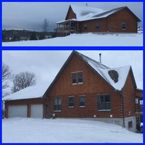 Custom Built - One of a Kind Log Home on 30 Acres East of Ptbo
