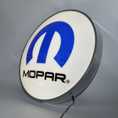 "15"" Mopar Hemi Opti Neon LED wall lamp dealership sign Licensed by Dodge METAL"