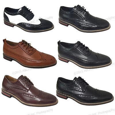 Dress Shoes Free Shipping - Mens Dress Shoes Wingtip Lace Up Leather Line Oxfords Brogue Casual Colors Sizes