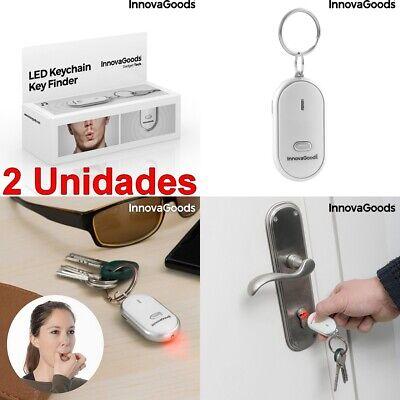 2 Unidades de Llavero localizador de llaves luz LED,avisador con sonido (pitido)