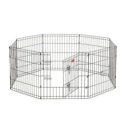 Lucky Dog Modular Pet Indoor Outdoor Portable Exercise Puppy Play Pen, 24 inches