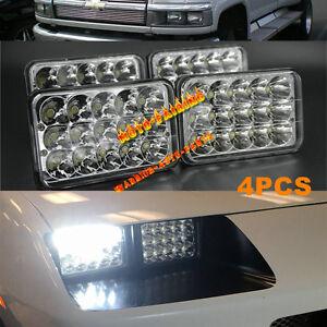 4PCS LED Headlights For Chevrolet GM C4500 and C5500 vehicles w/ dual headlights