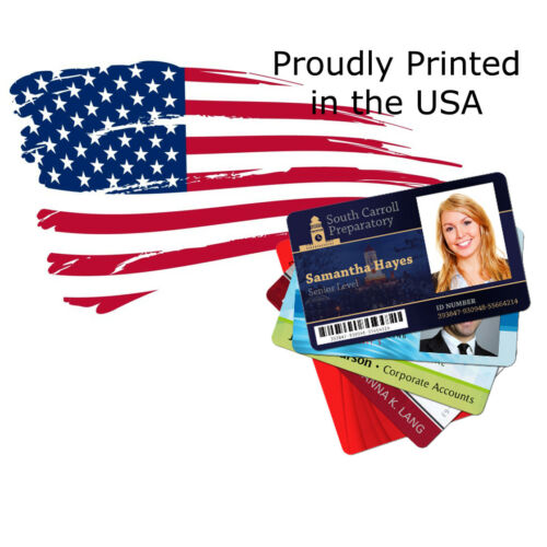 Full Color Custom Printed PVC ID cards, Printed in a High Definition ID Printer