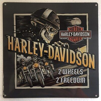Ande Rooney HARLEY DAVIDSON ROAD RAGE Tin HD Motorcycle Garage Man Cave Sign