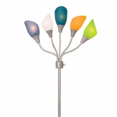 Light Accents Medusa Floor Lamp with 5 Multicolor Acrylic Sh