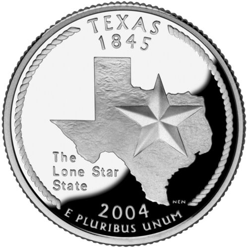 2004 S SILVER GEM PROOF TEXAS STATE QUARTER 90% SILVER **Free Shipping**