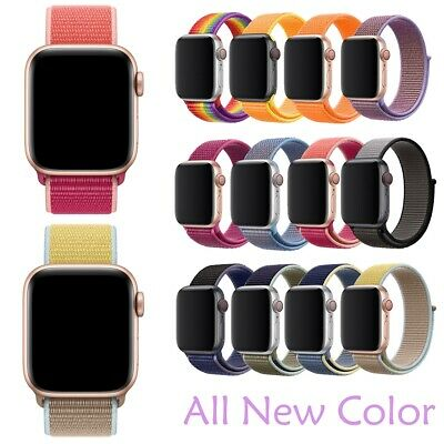 For Apple Watch iWatch Series 5 4 3 21 38-44mm Nylon Woven Sport Loop Band Strap