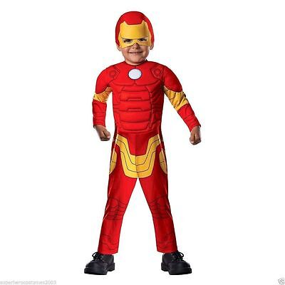 Girl Iron Man Costume (Toddler Boy or Girl Costume (Rubie's) Marvel Iron Man Muscle Sz T (Ages 1-2))