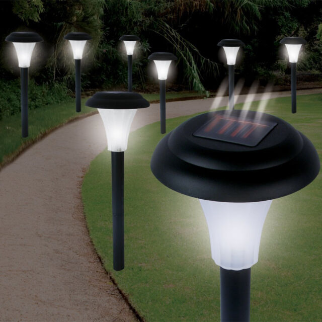 Nice Lights Solar Powered Part - 9: 8 Outdoor Solar Power Lights Garden Pathway Landscape LED Lighting Yard Lamp