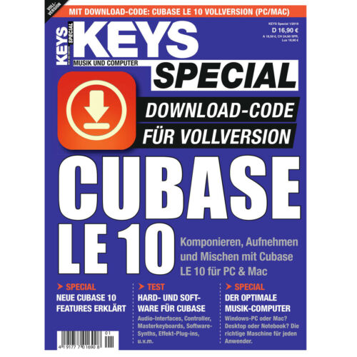 Cubase LE 11 - Genuine full license from Keys Special (License code only)